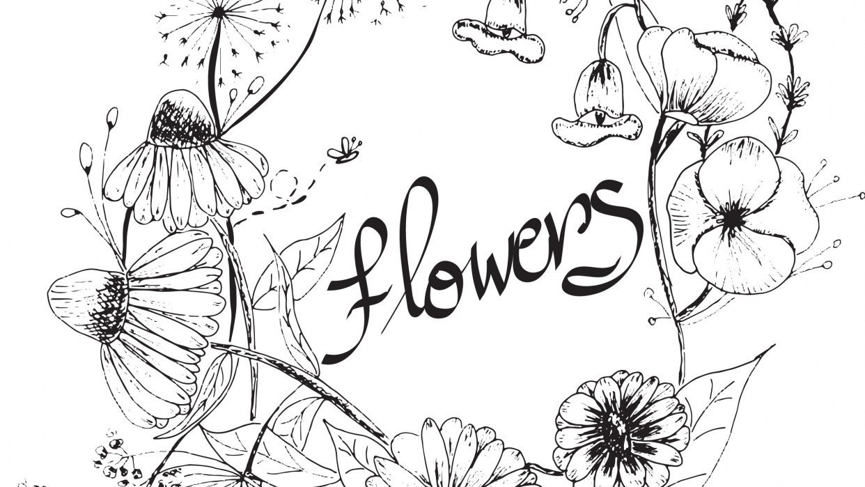 my flowers, wonderful class - student project