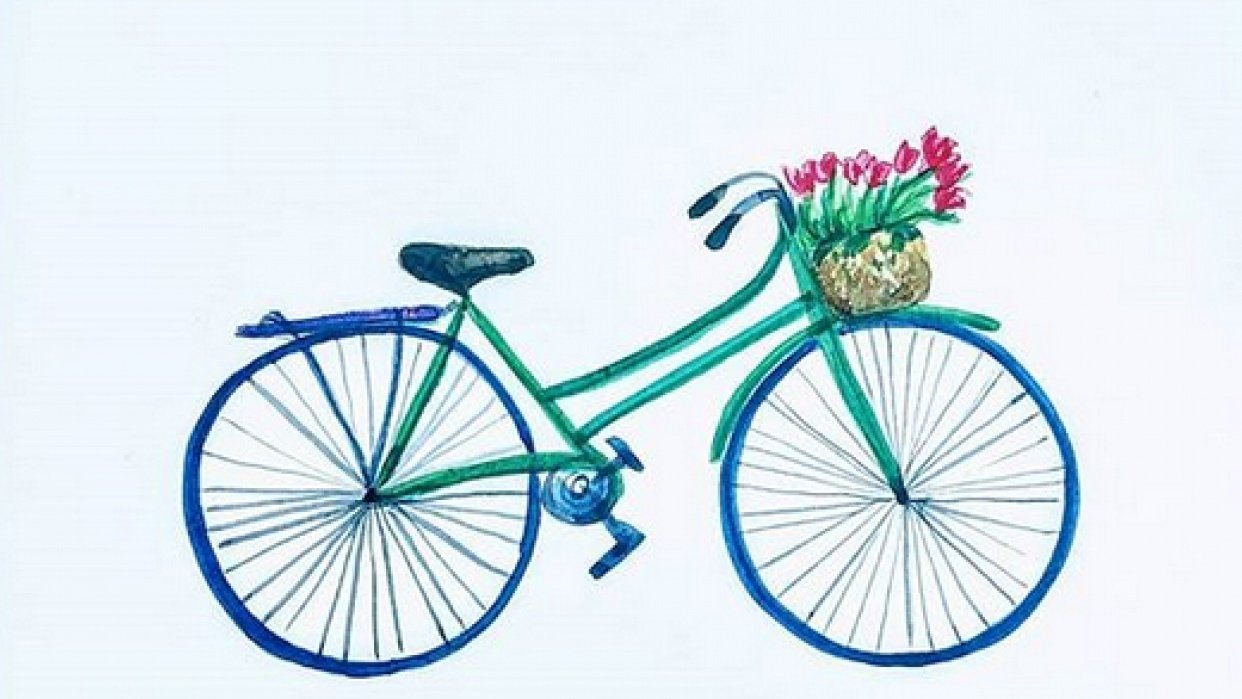 Spring bicycle - student project