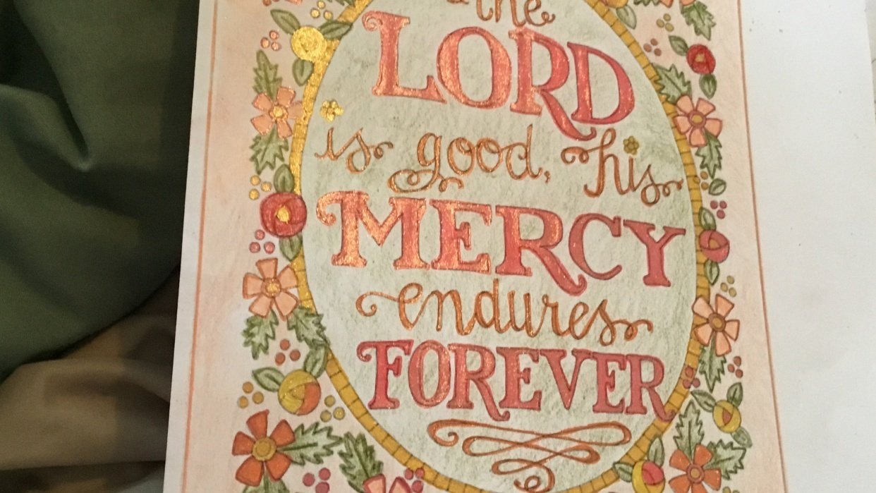 The Lord is good - student project
