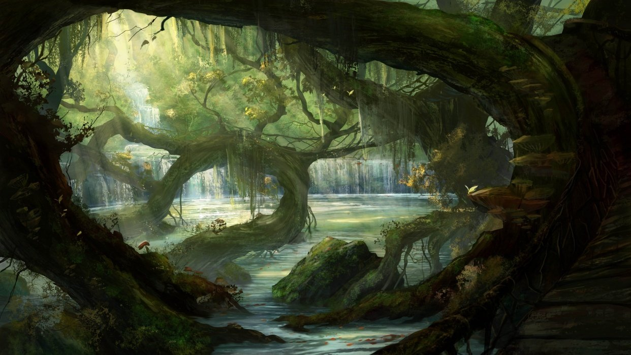 Hidden path, Epic village, Ironwood forest - student project