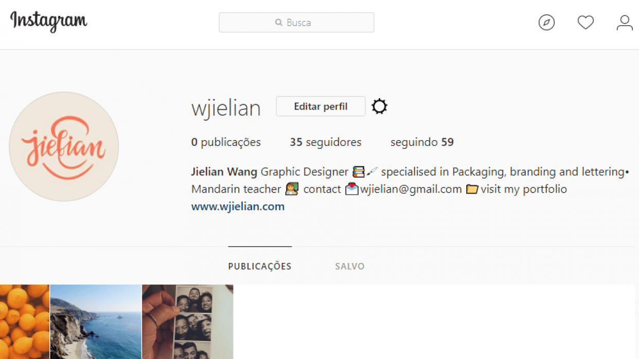 My instagram account - student project