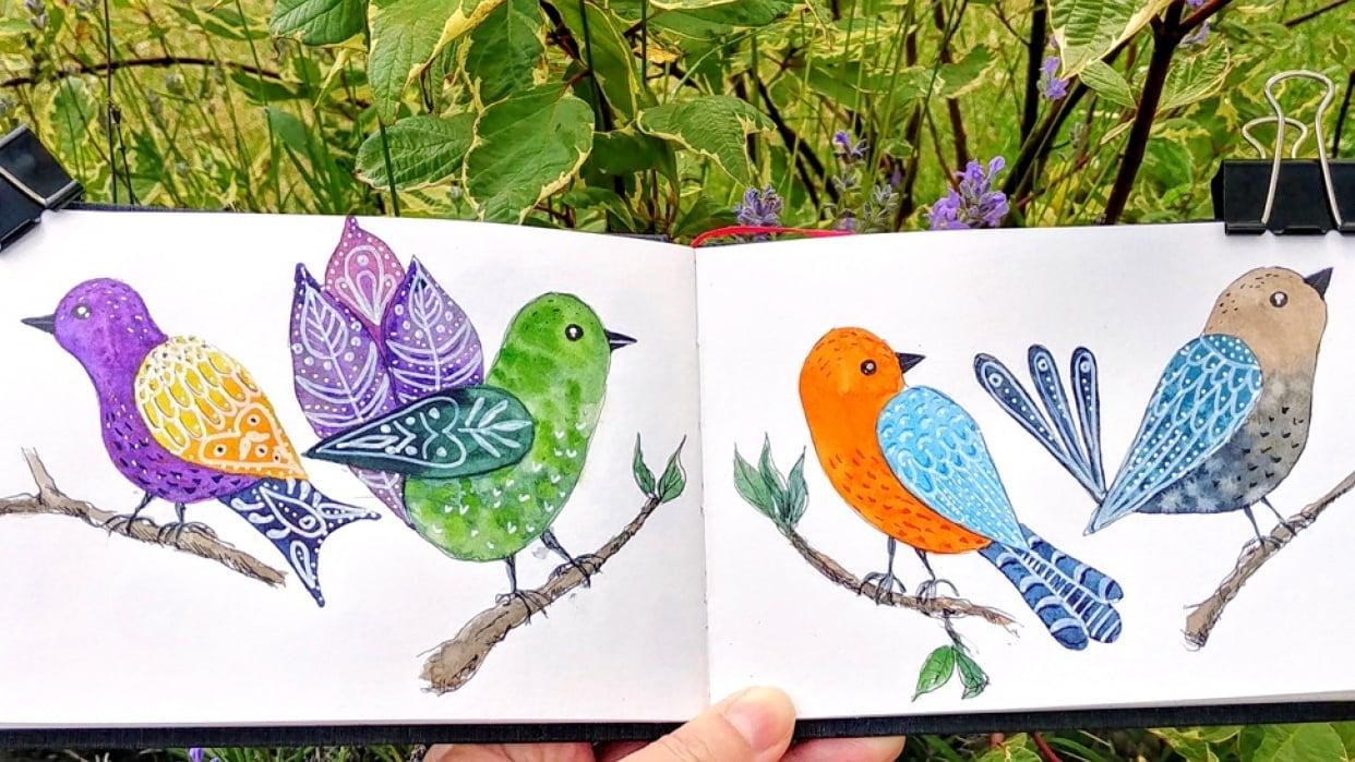 Folk birds - student project