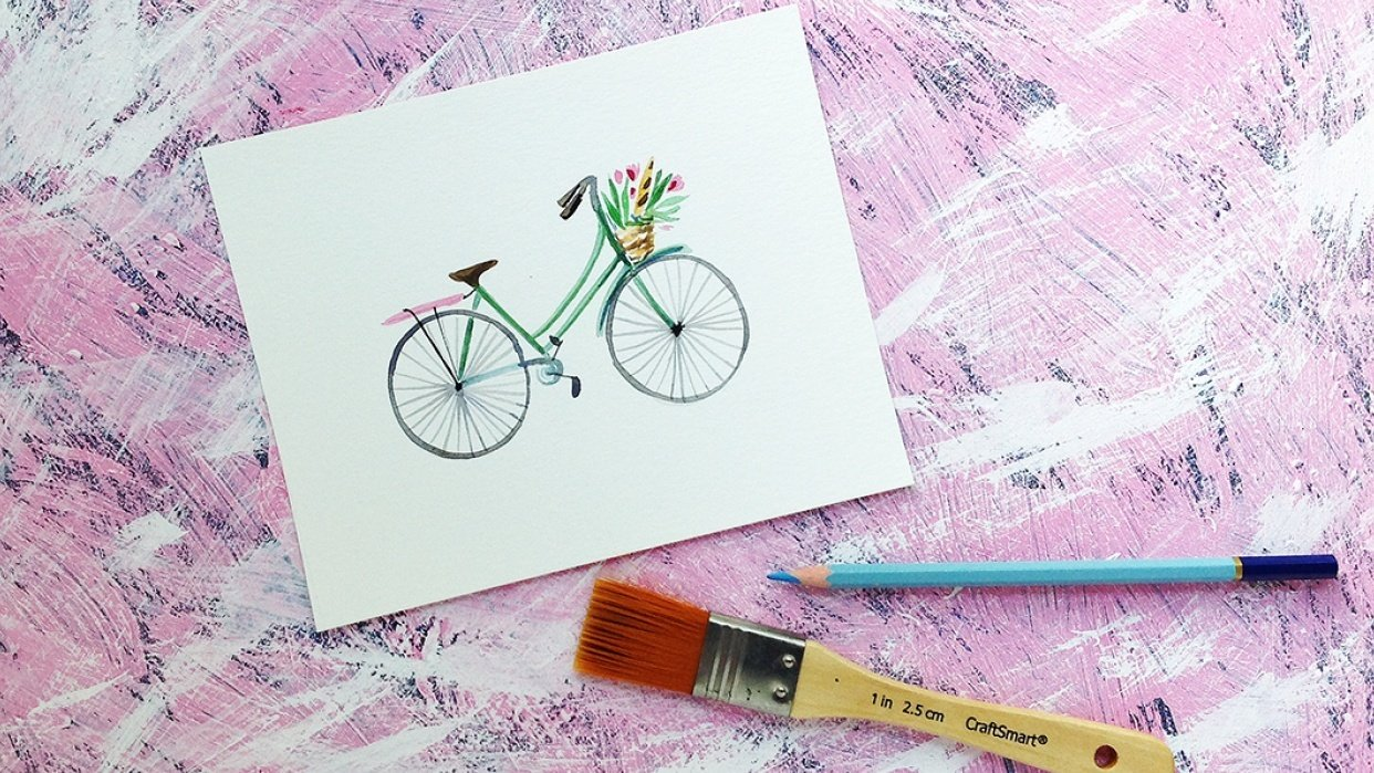 DIY Photo Backdrop for watercolor paintings - student project