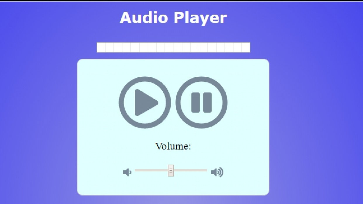 Audio Player App - student project