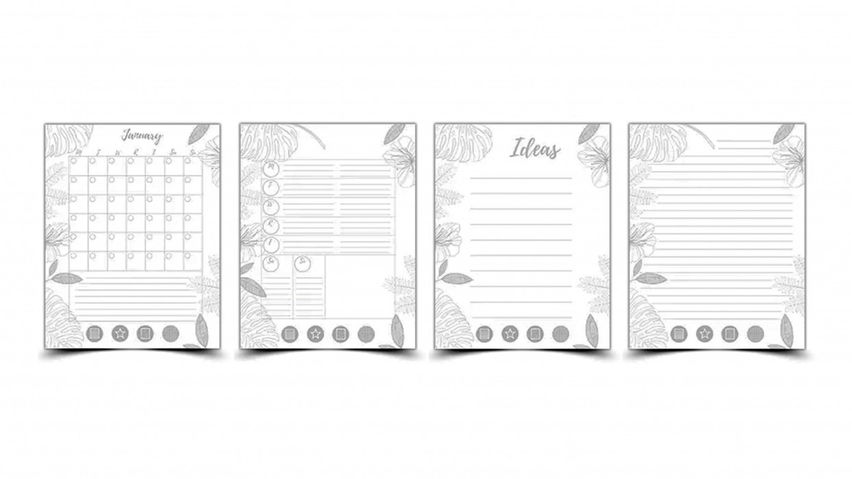 My New Mudcloth Customizable Planner! (free download) - student project