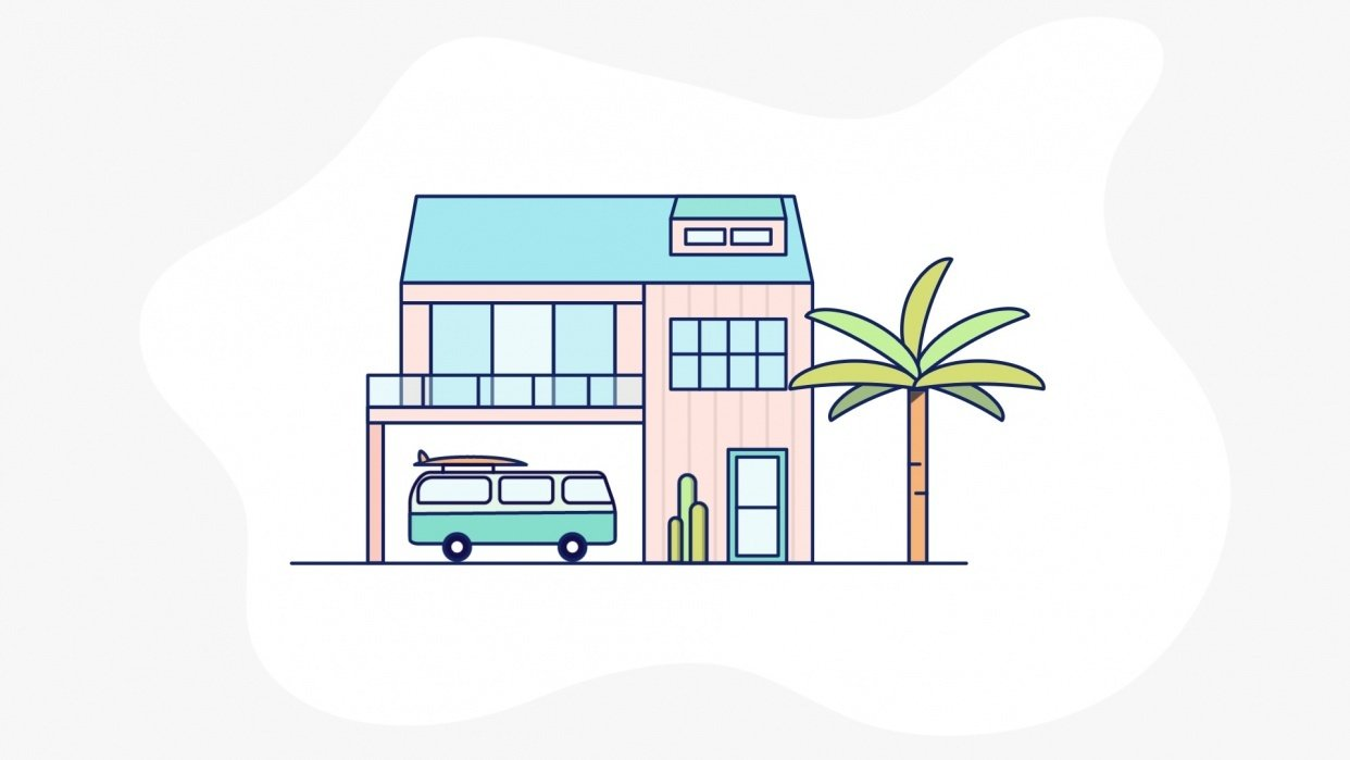 Beach House Animation - student project