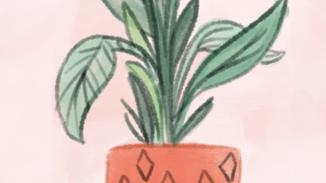 Digital Watercolor Illustration (Teacher's Sample Project) - student project