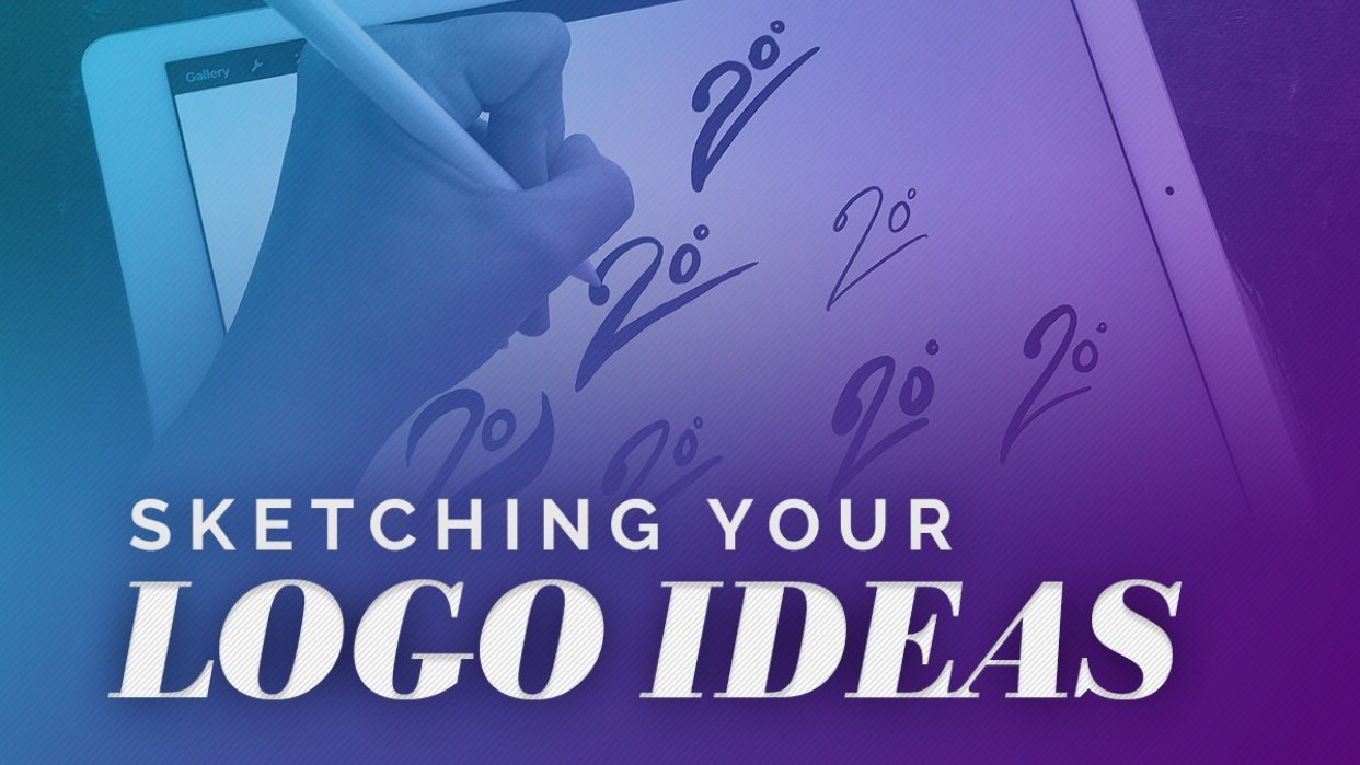 Sketching Logo Design Ideas - Making Them Reality! - student project