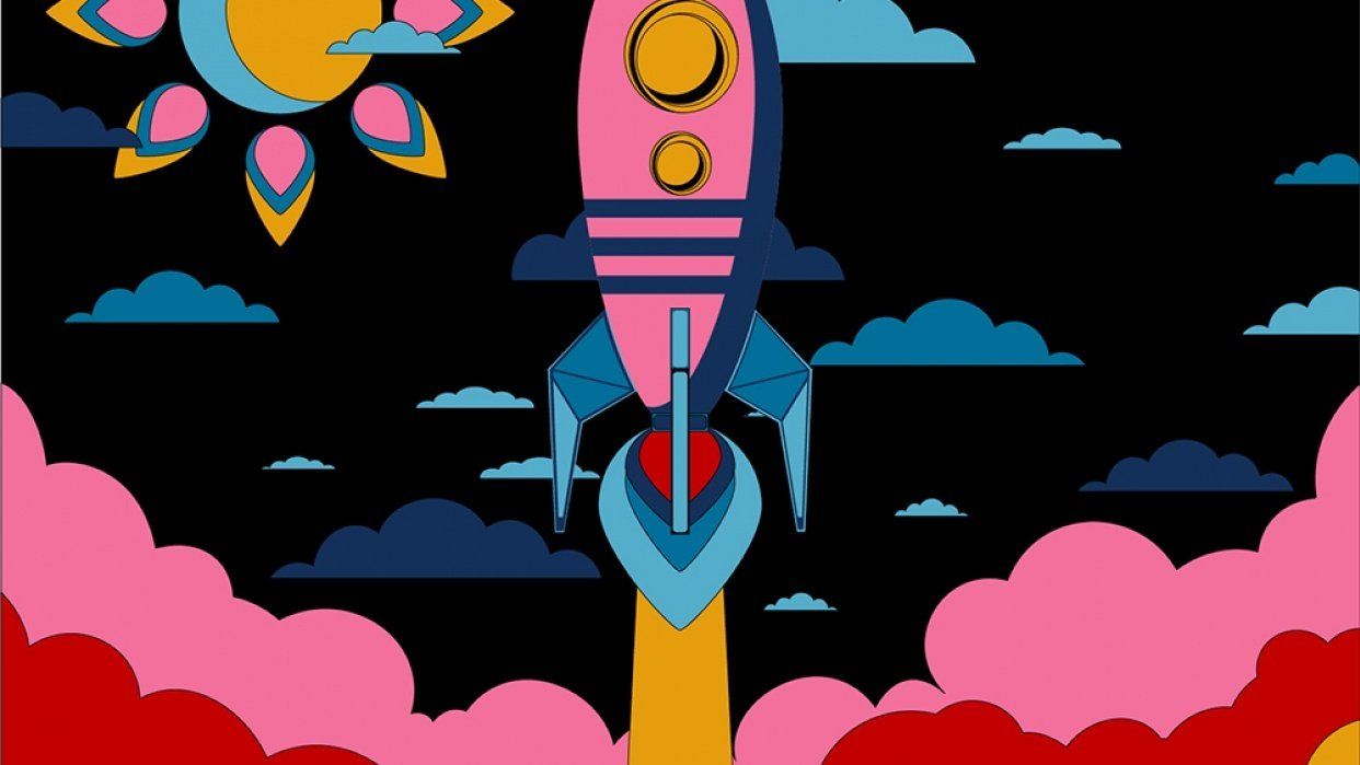 Rocket Coloring based on Warhol - student project
