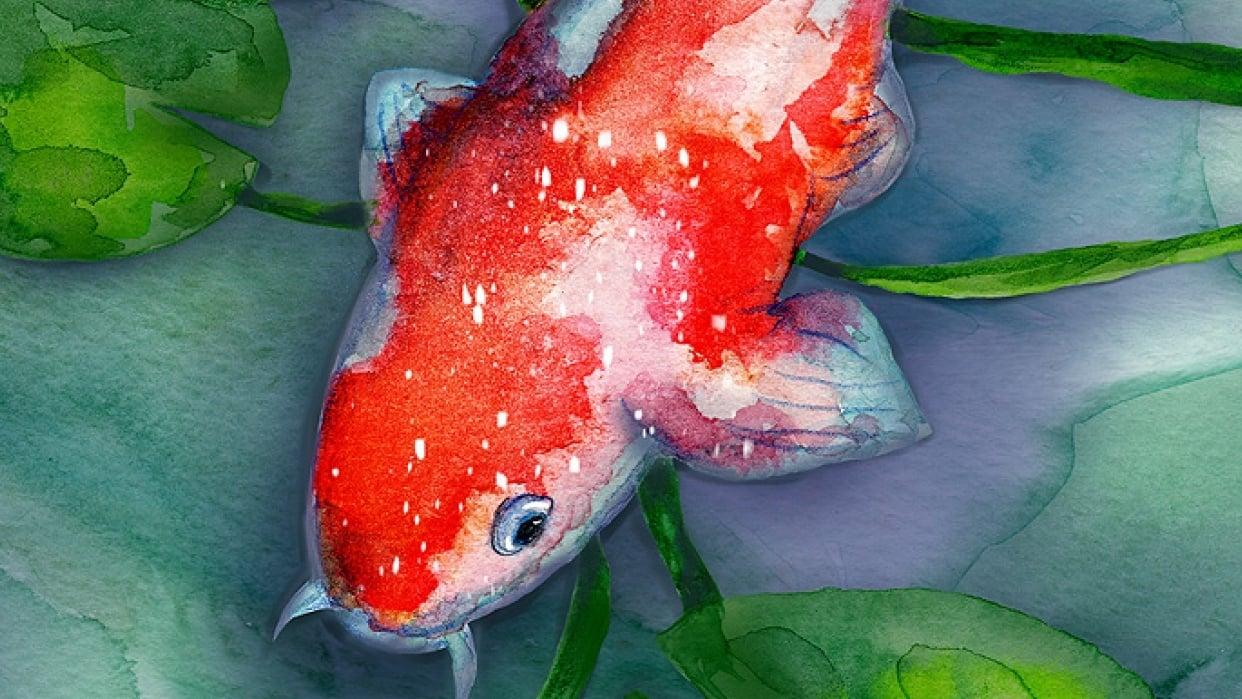 Watercolor to Procreate Koi Fish - student project
