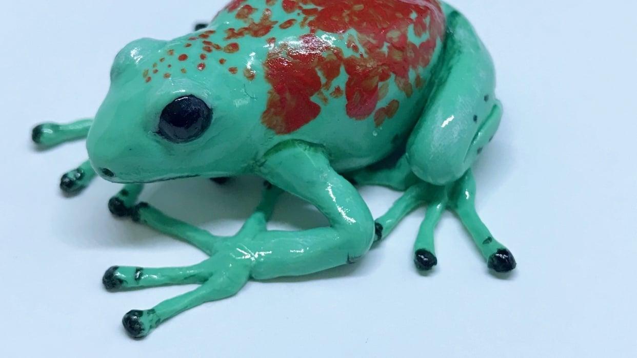 Miniature Frog Sculpture - student project