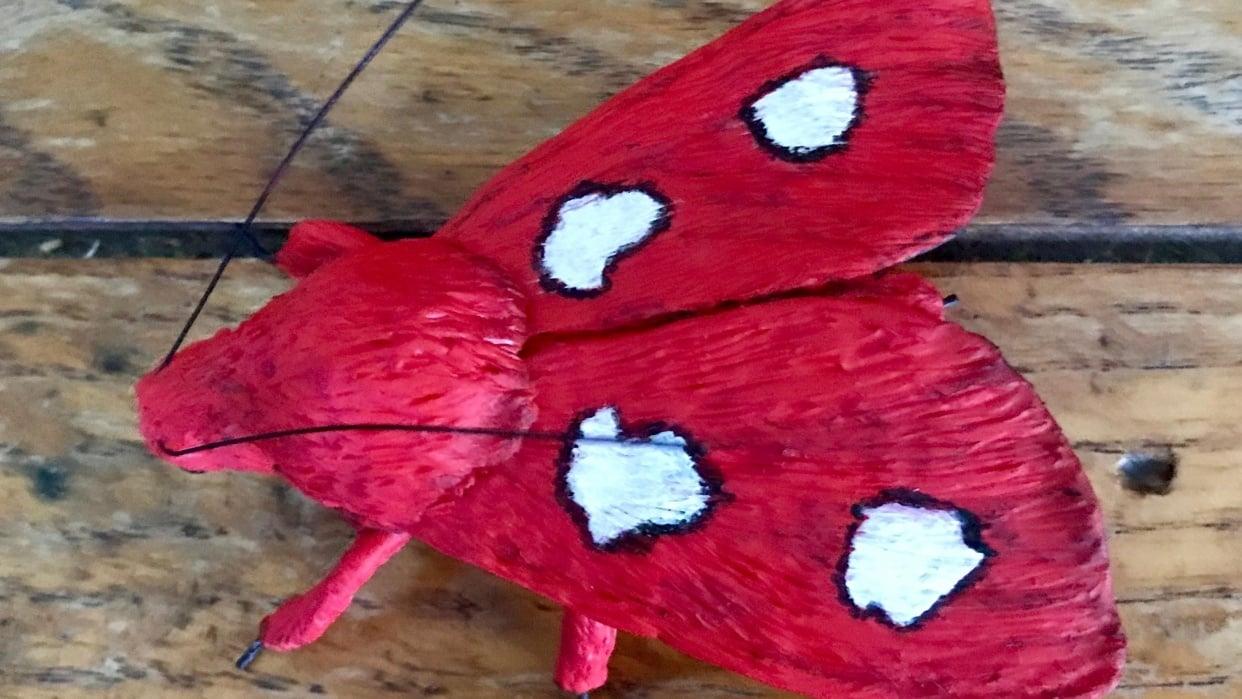 Tiger Moth Brooch - student project