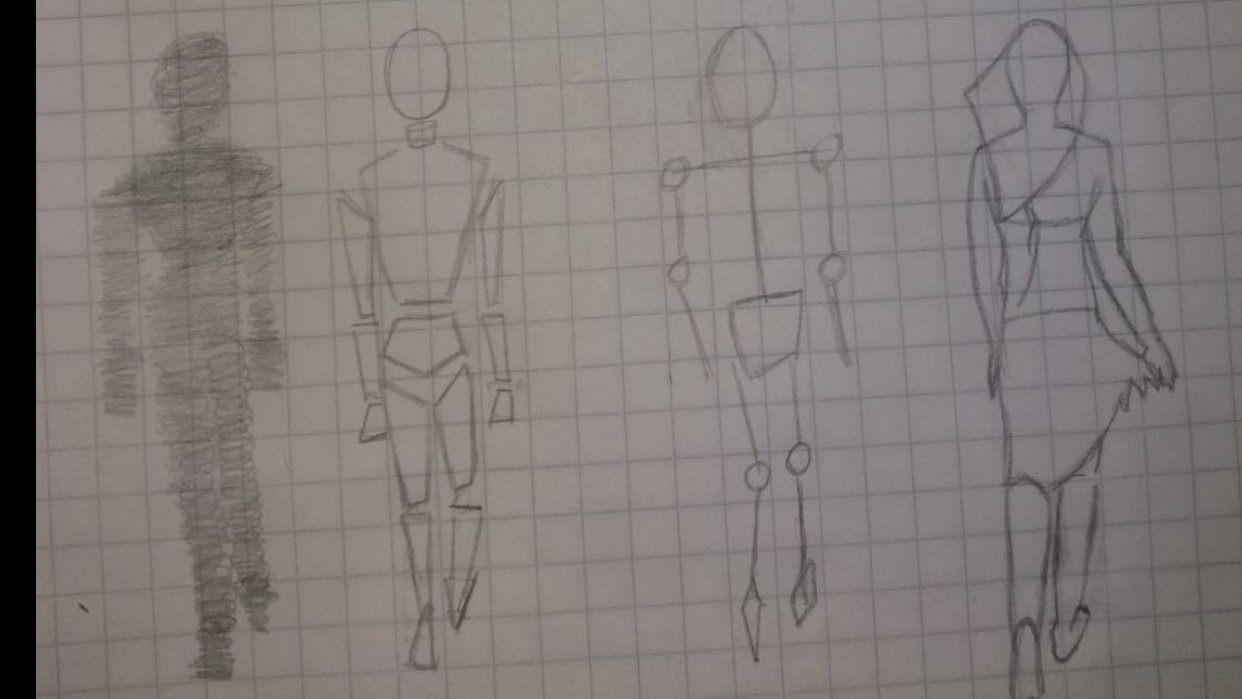 Figure sketching - student project