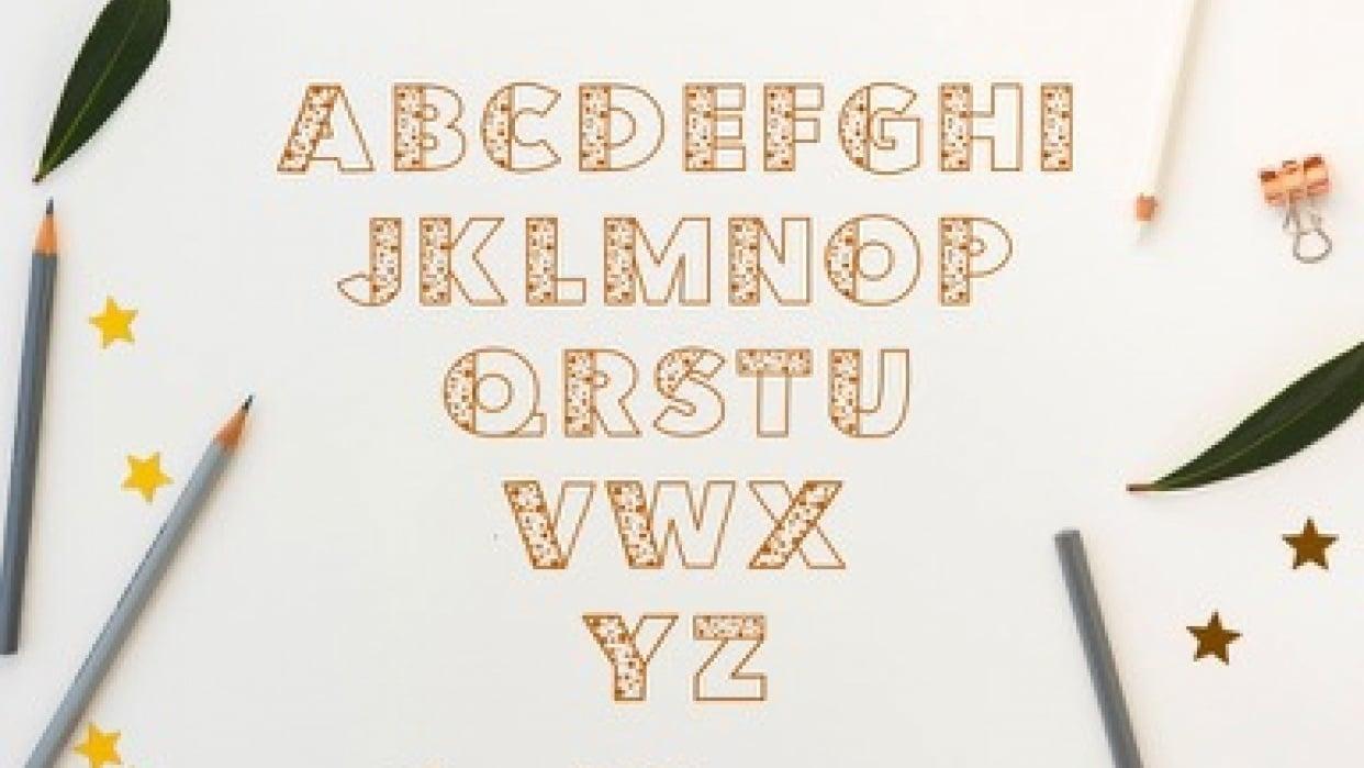 Wonky Celebration Font - student project