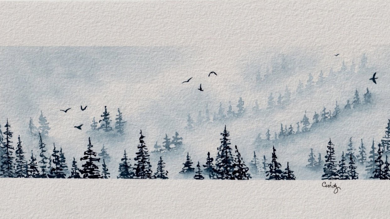 Cindy's Misty Pines in Indigo - student project