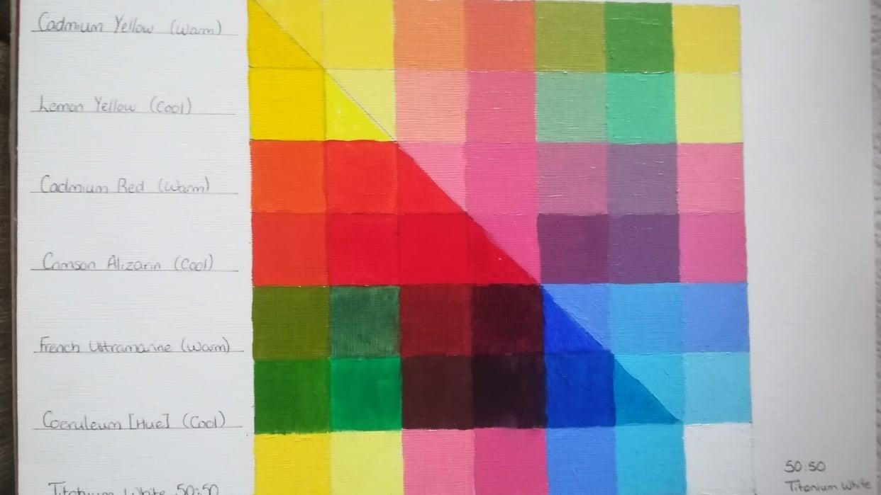 Colour Mix Grid - student project