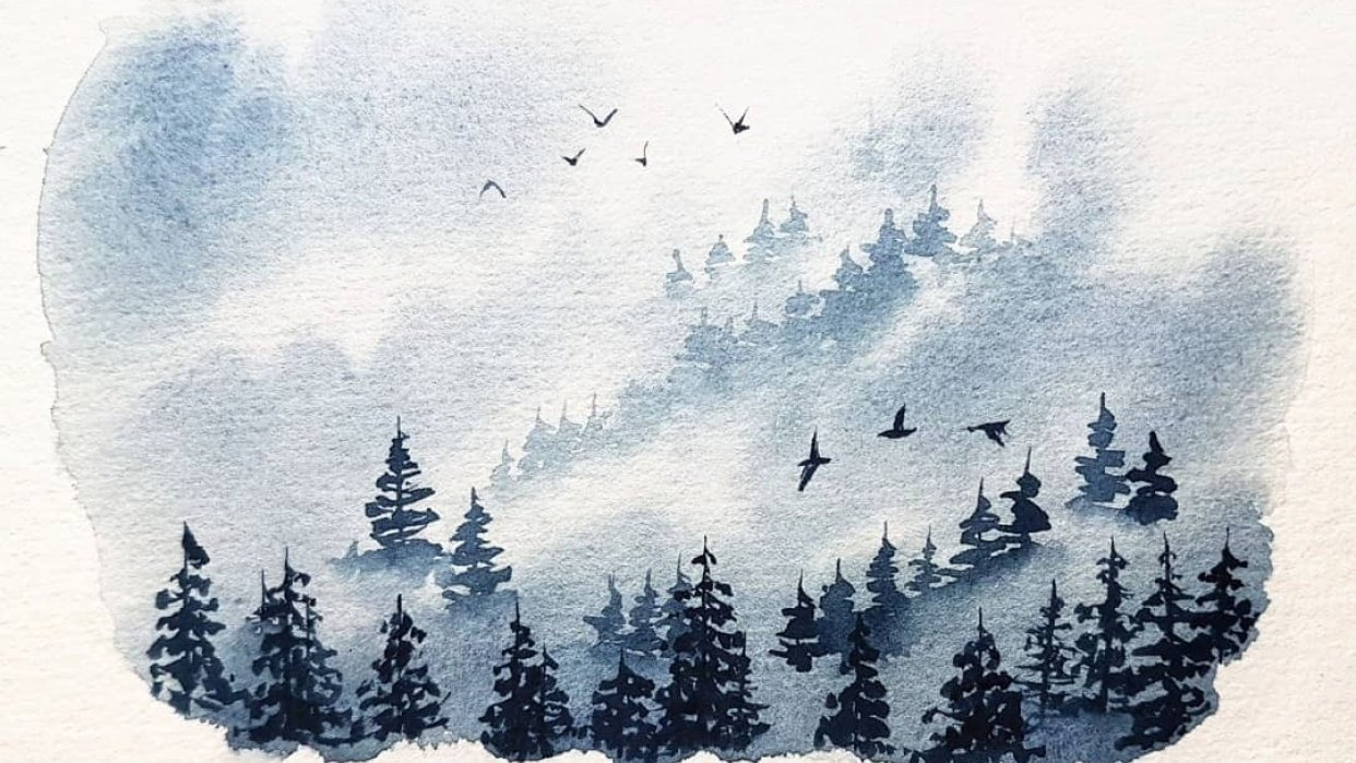 Misty Pine Forest - student project
