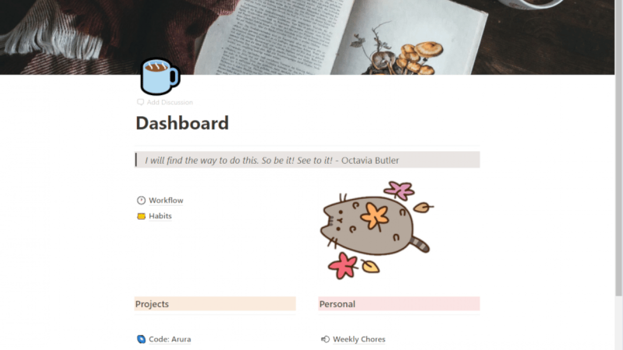 Notion Dashboard - student project