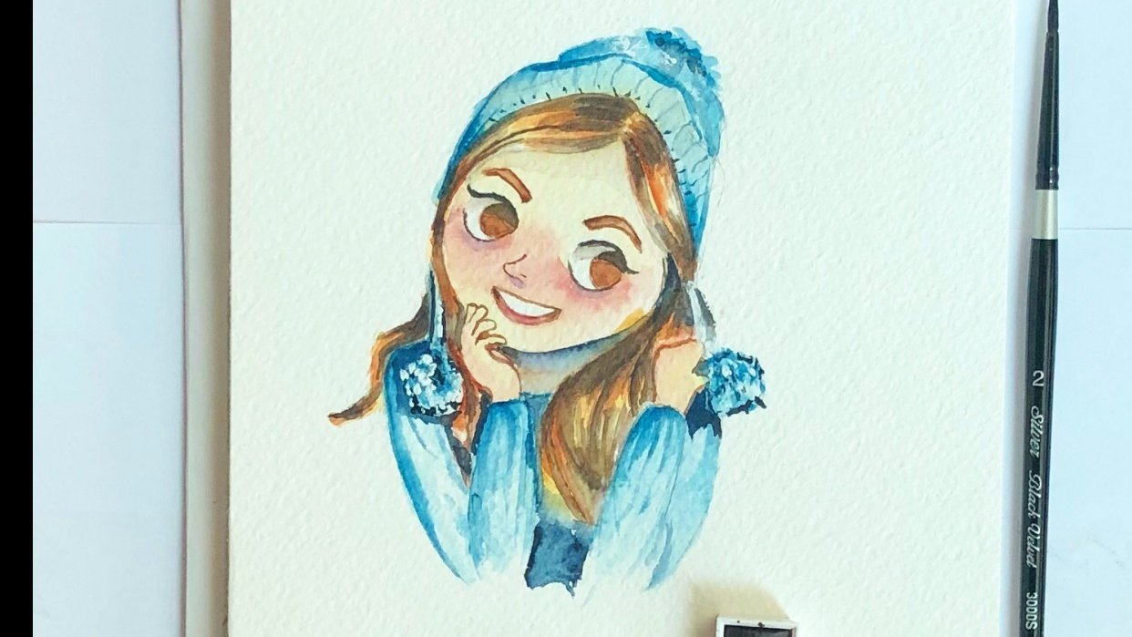 Watercolor Avatar - student project