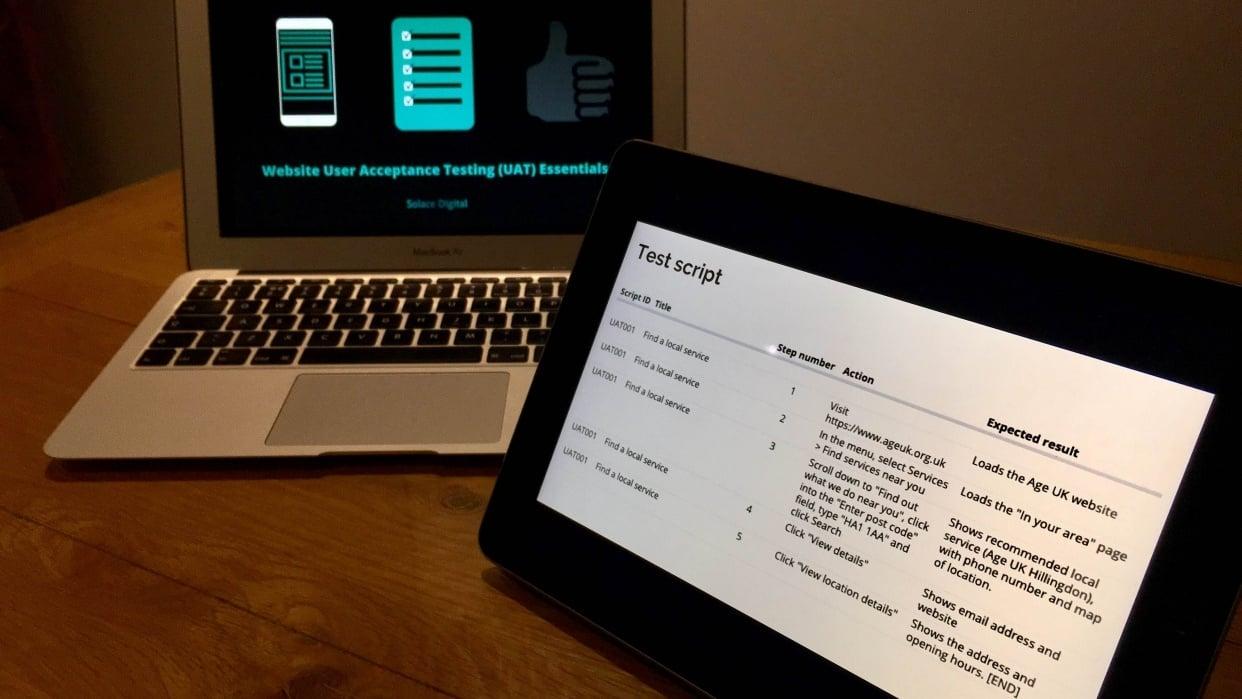 Sample project: Suraj Shah - UAT script - contact form - student project