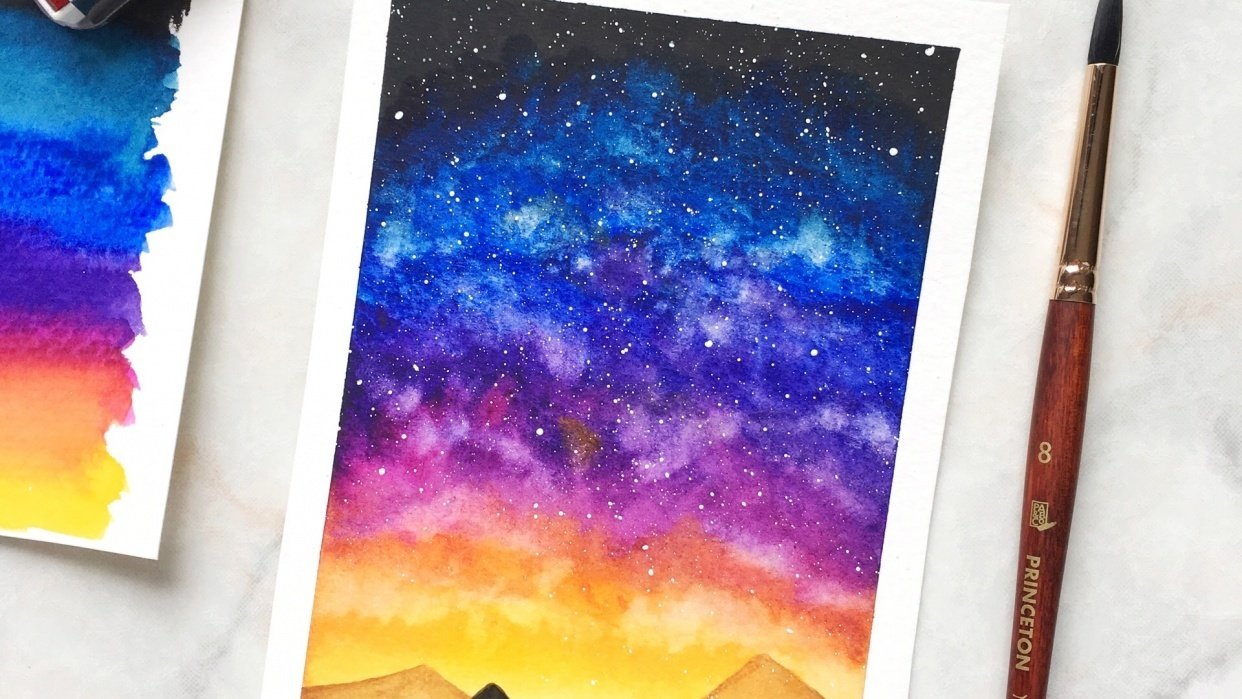 Watercolour Galaxies - student project