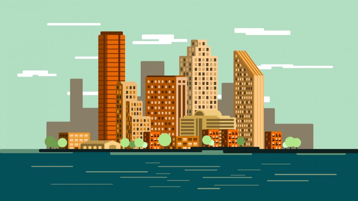 City skyline - student project