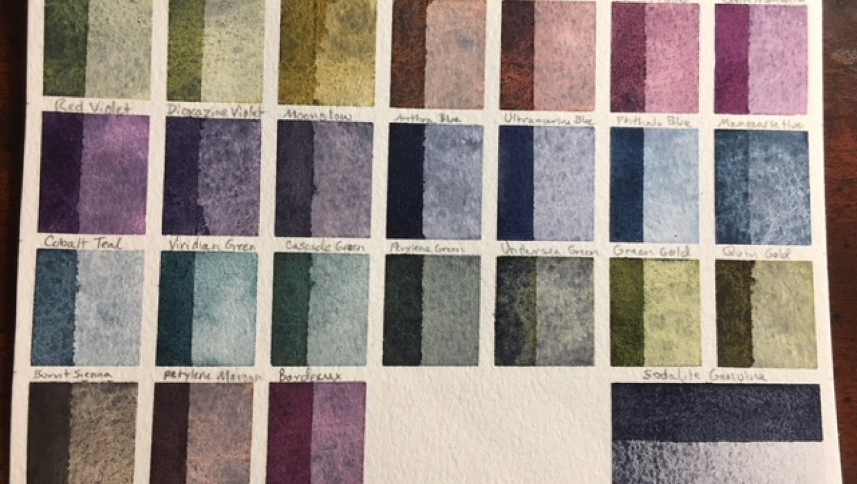 Custom Palette, ID Chart and Swatches - student project