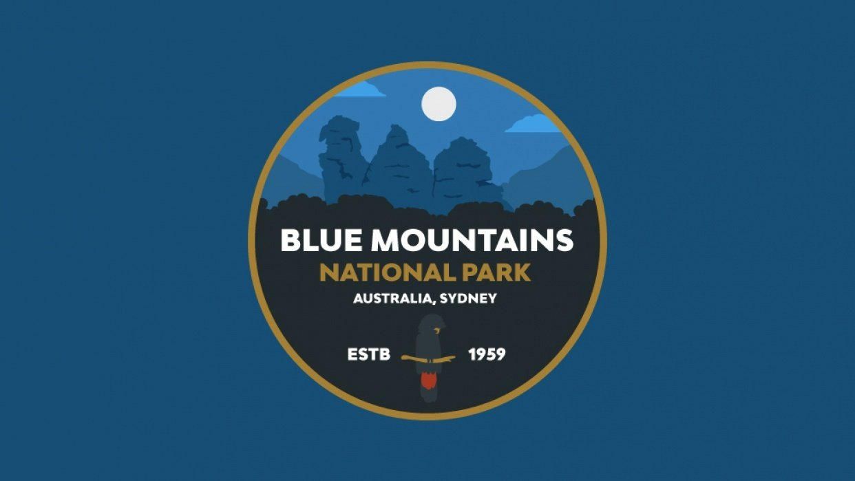 Blue Mountains National Park Badge - student project
