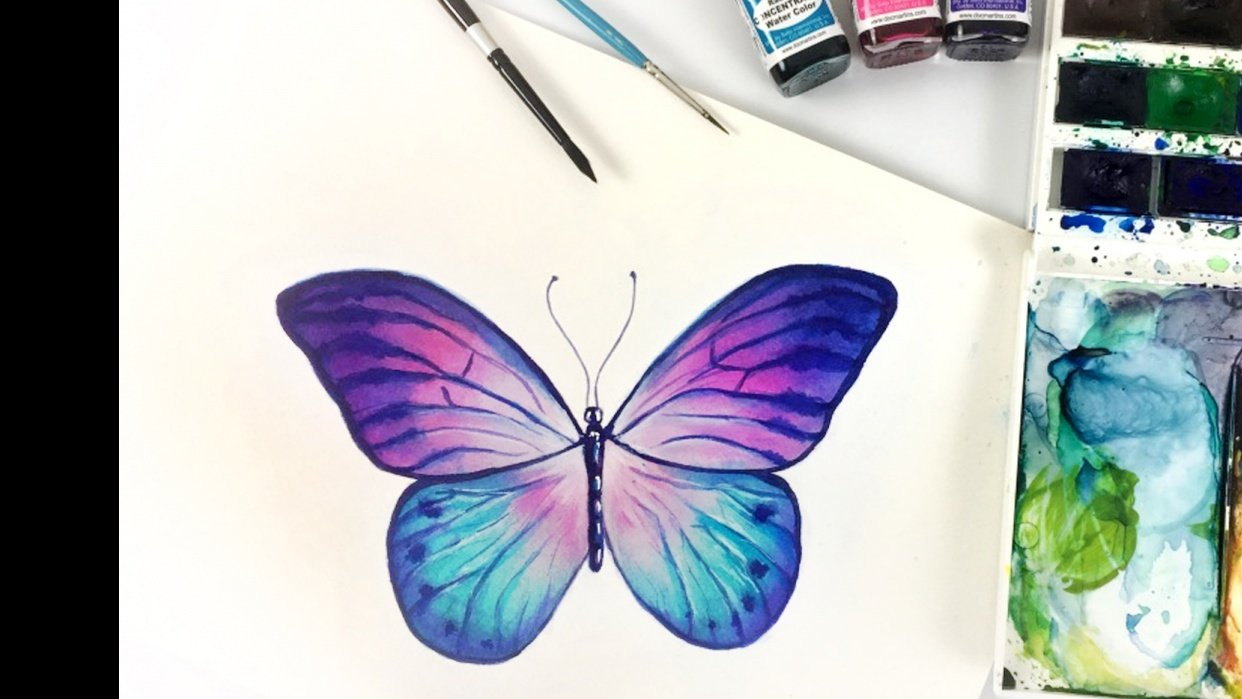 Final Butterfly with Glazing Technique - student project
