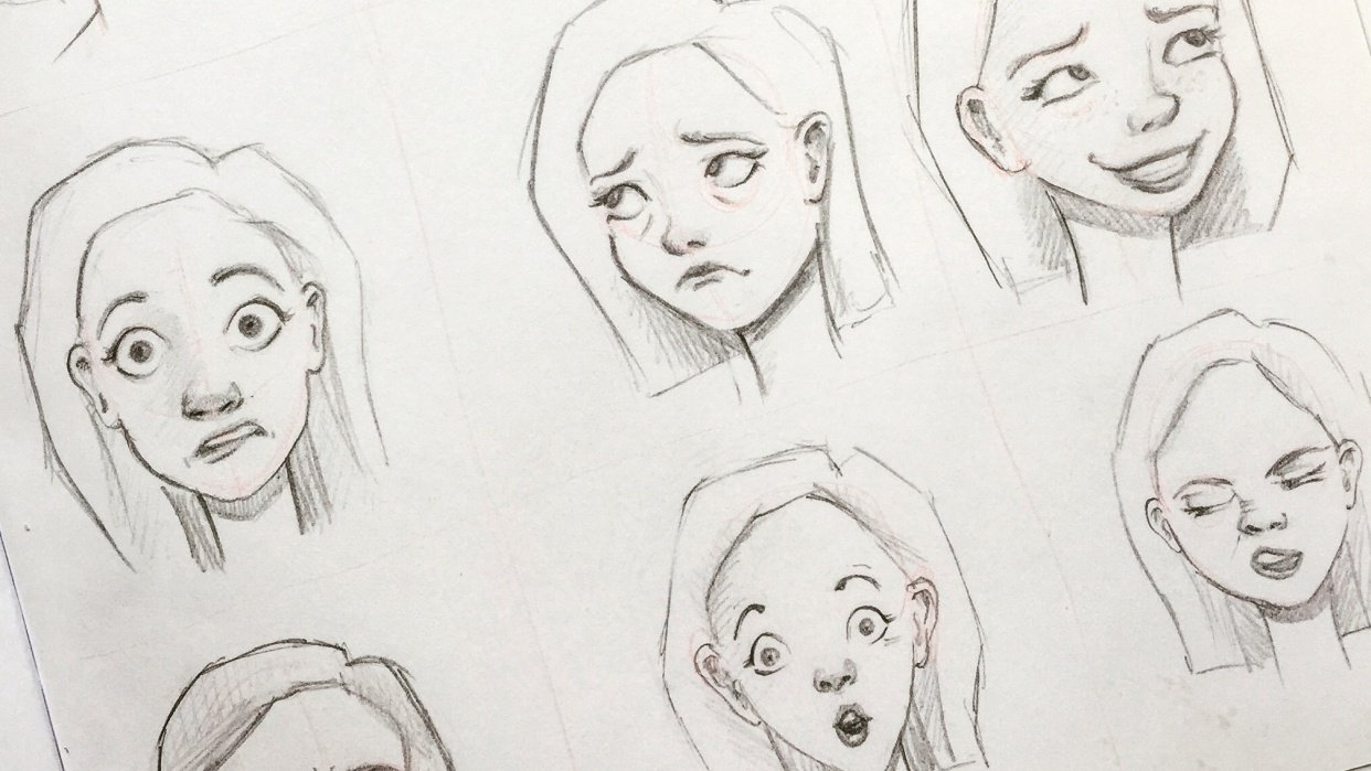 Practicing Facial Expressions - student project