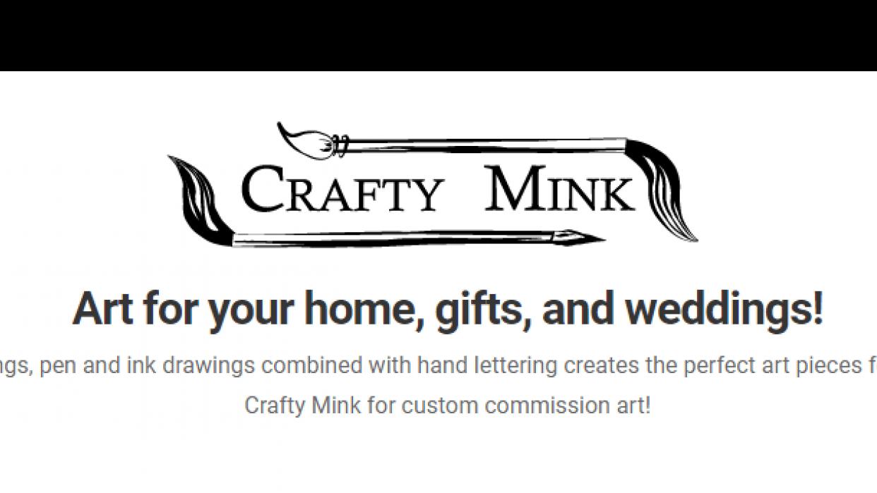 Crafty Mink - An artist's website: craftymink.com - student project