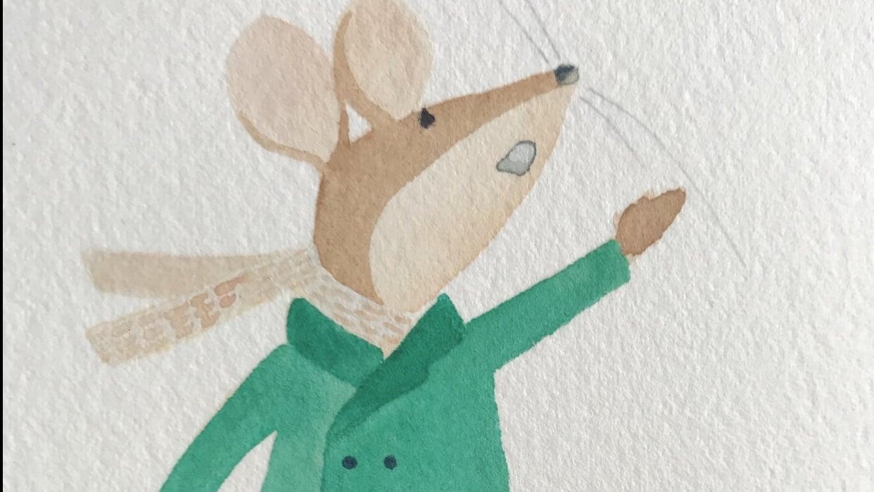 Mousegirl predicting rain - student project