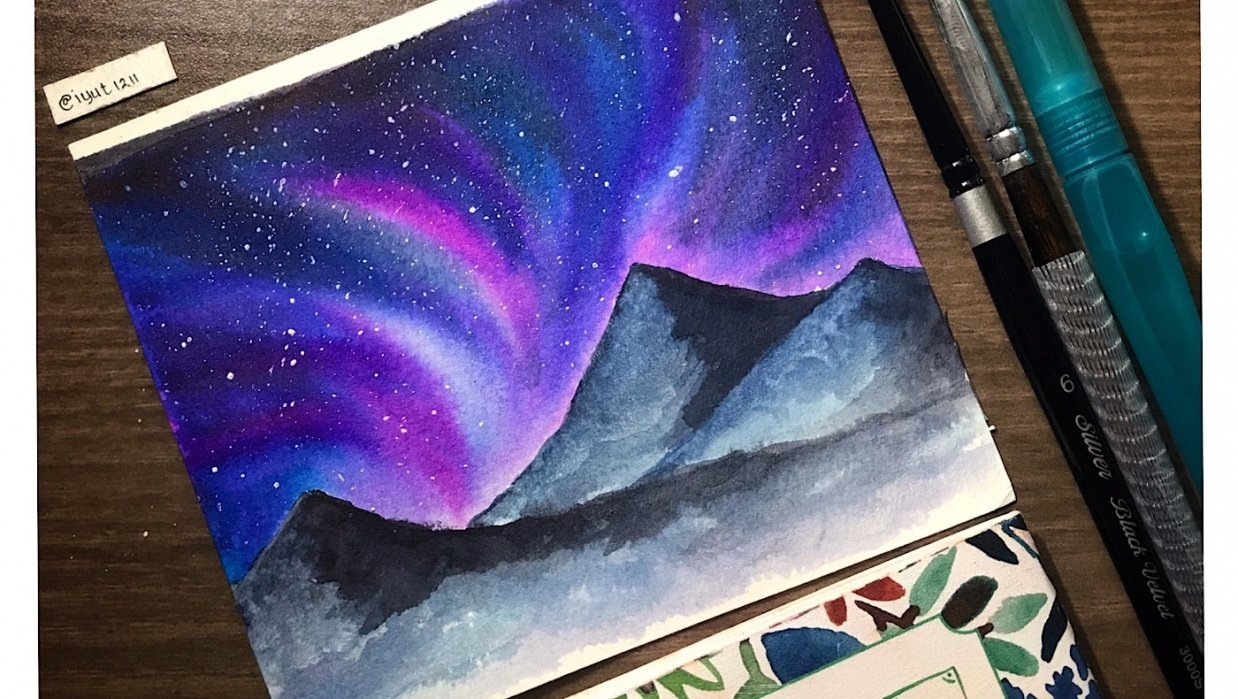 Northern Lights Sky - student project