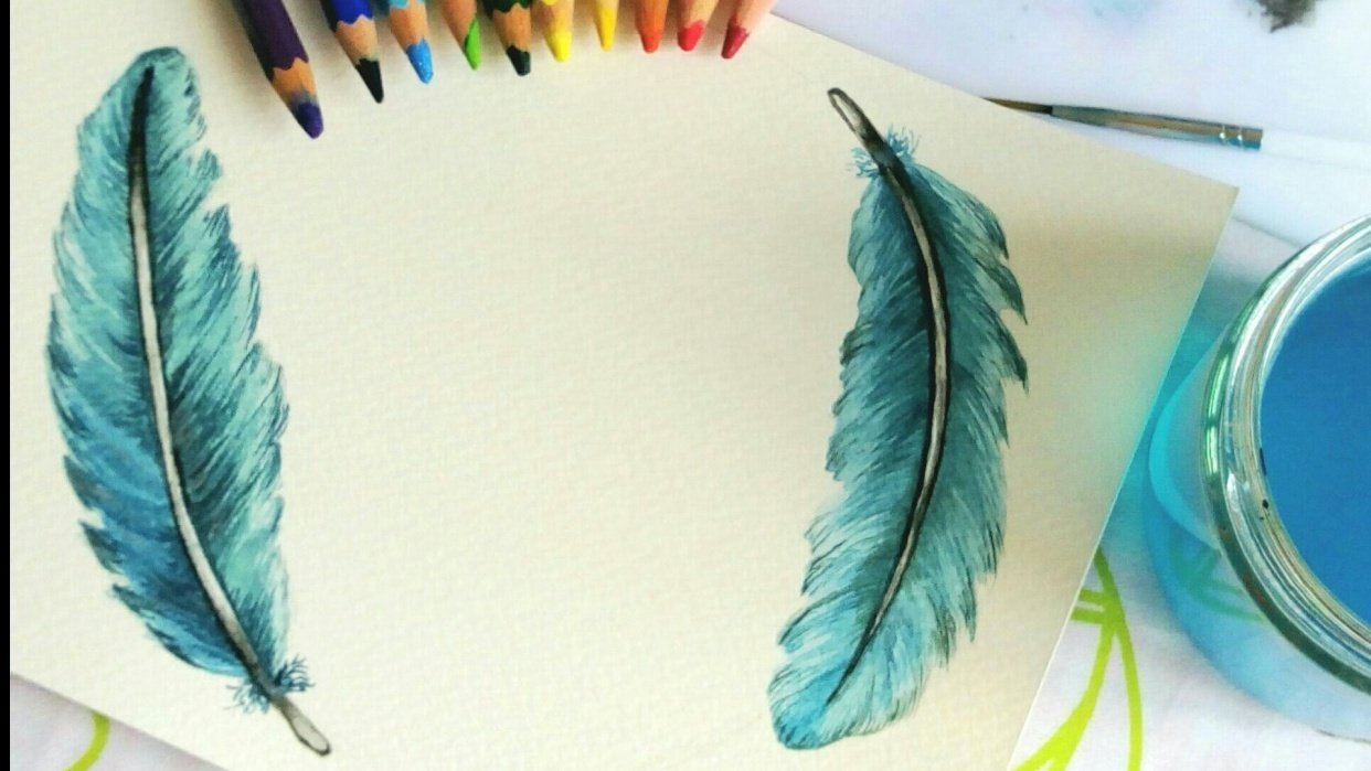 Feather wreath - student project