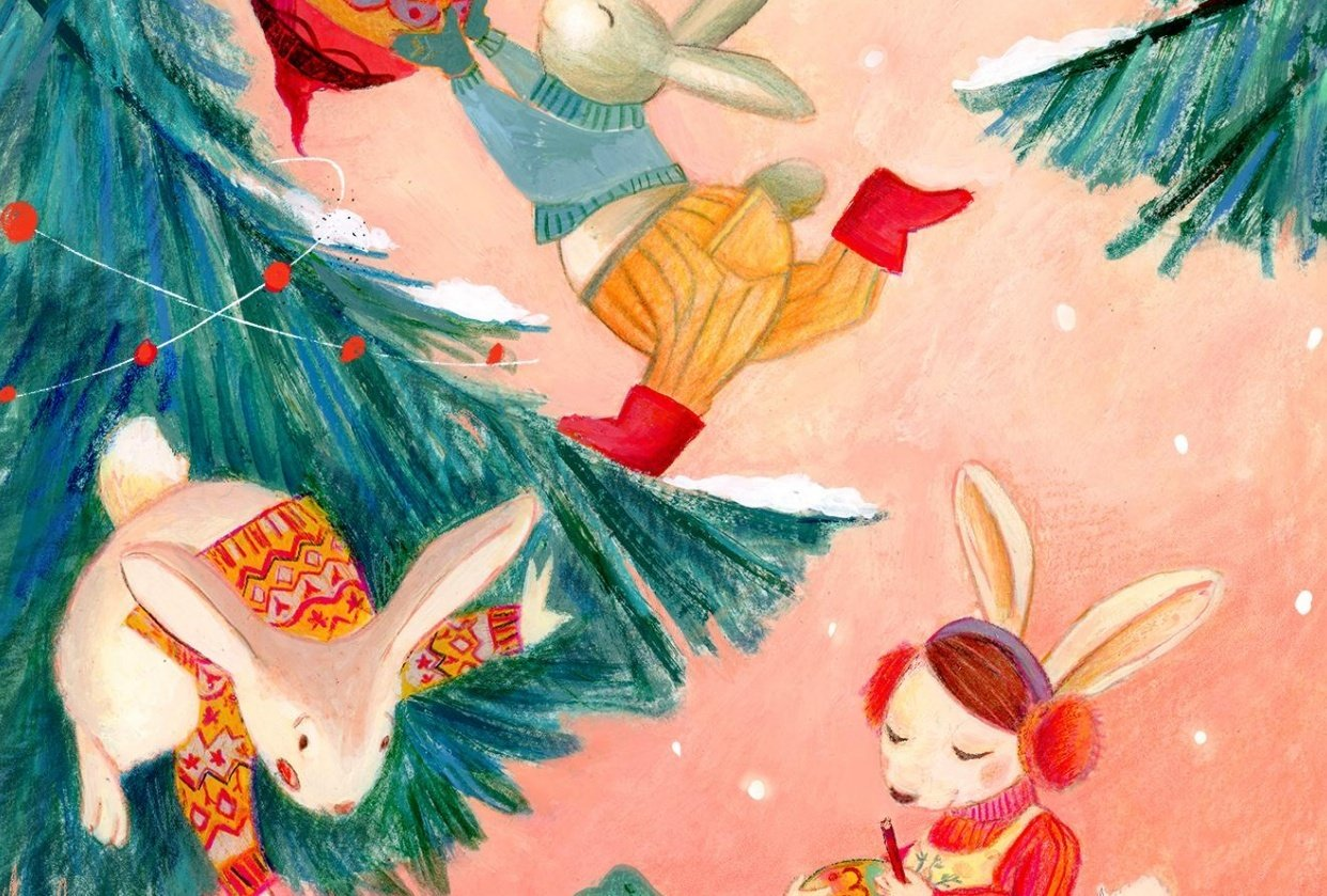 Illustrations for children- color studies - student project