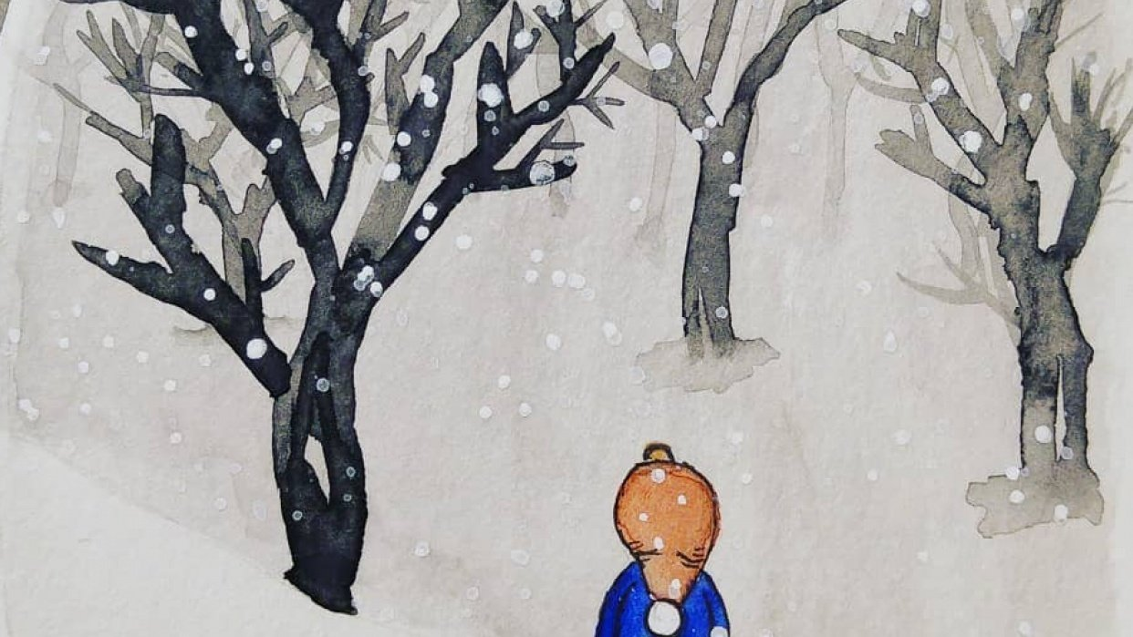 Watching the snow fall - student project