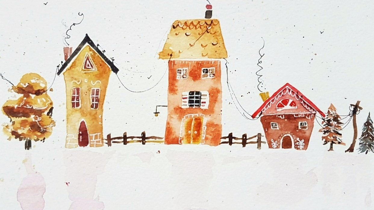 Gingerbread houses - student project