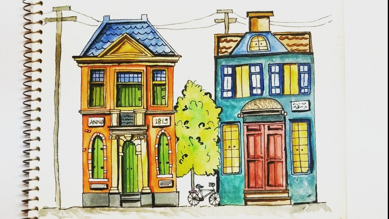 Colorfull houses - student project