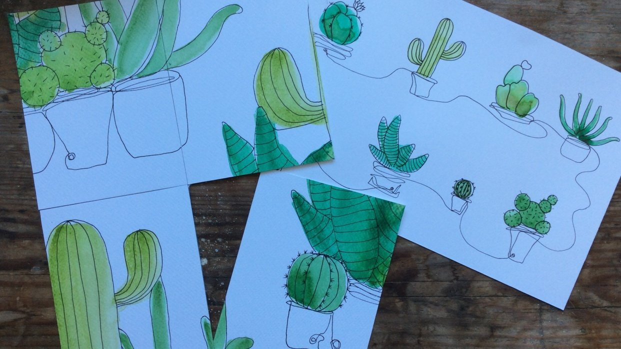 Cacti pattern - student project