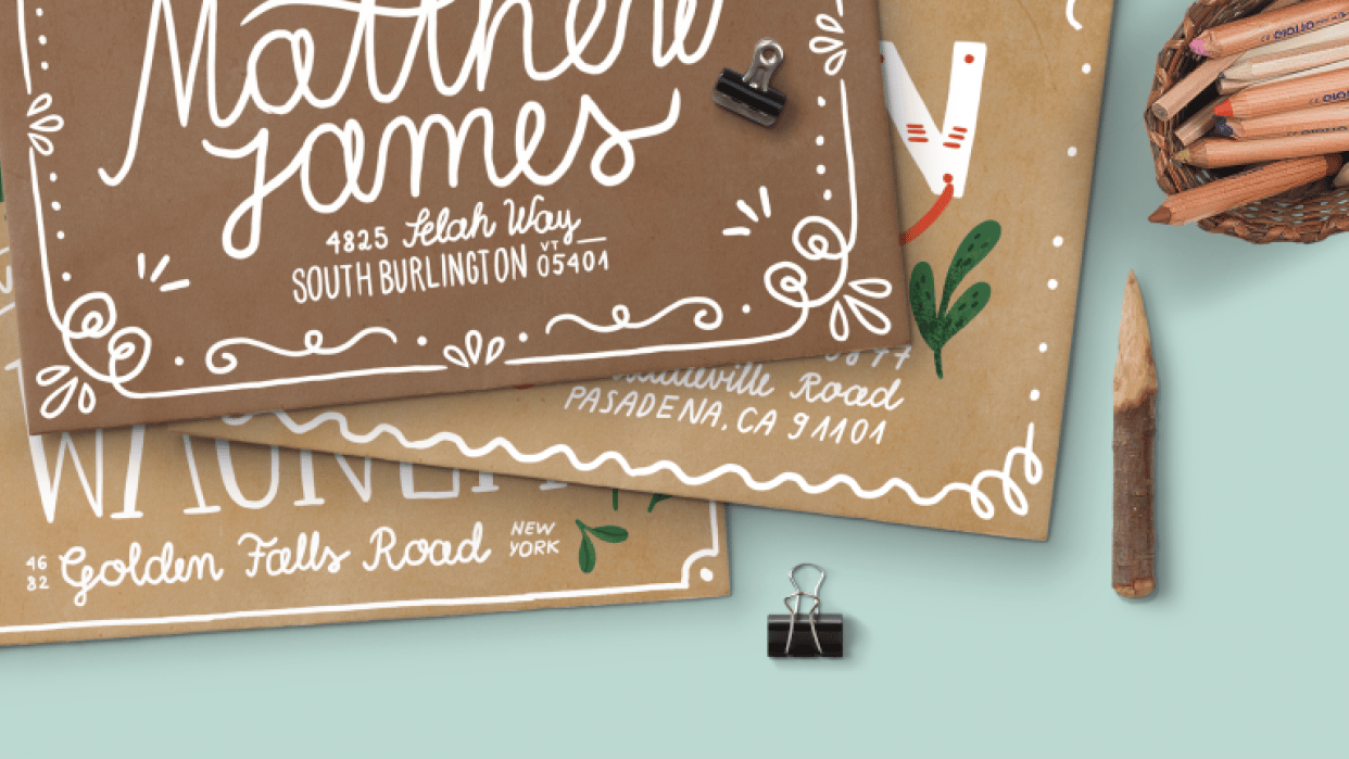 Hand Lettering for the Holidays - lesson No.1 - student project