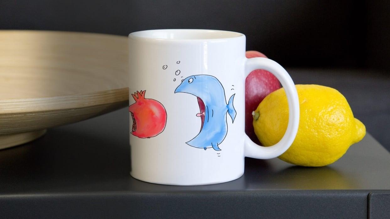 Food chain mug - student project