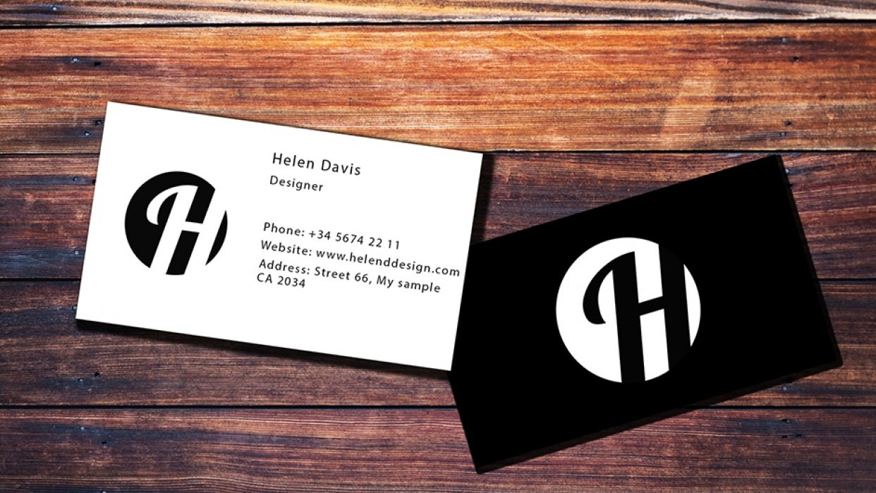 Business Card practice - student project