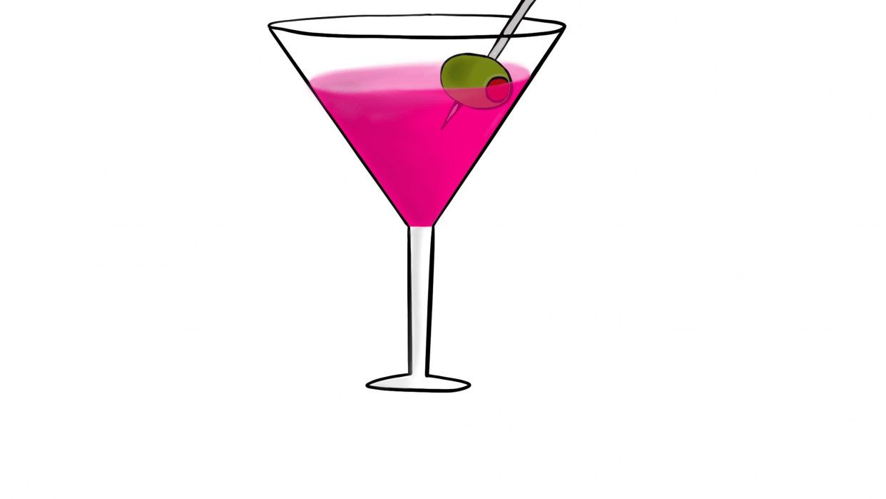 Martini Anyone? With Yummy Cupcake - student project