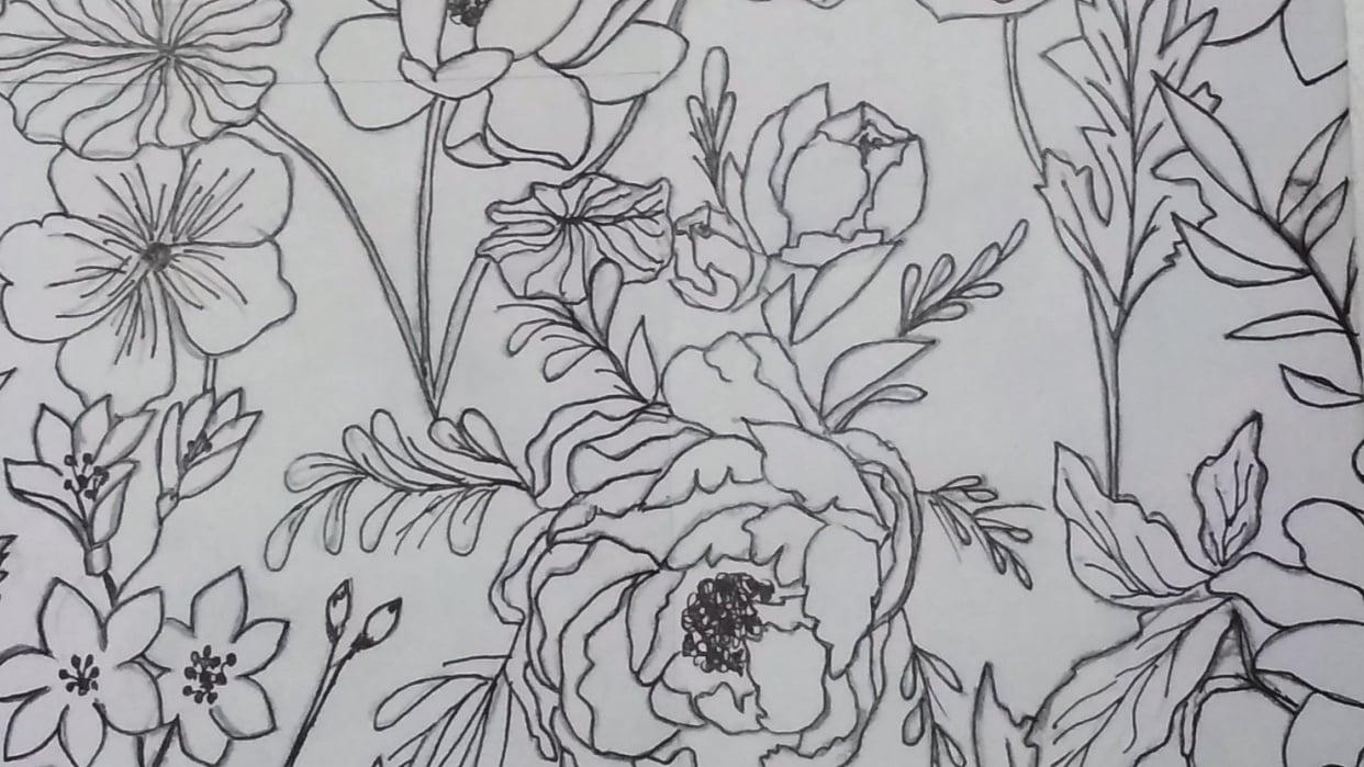 Vintage Florals - student project