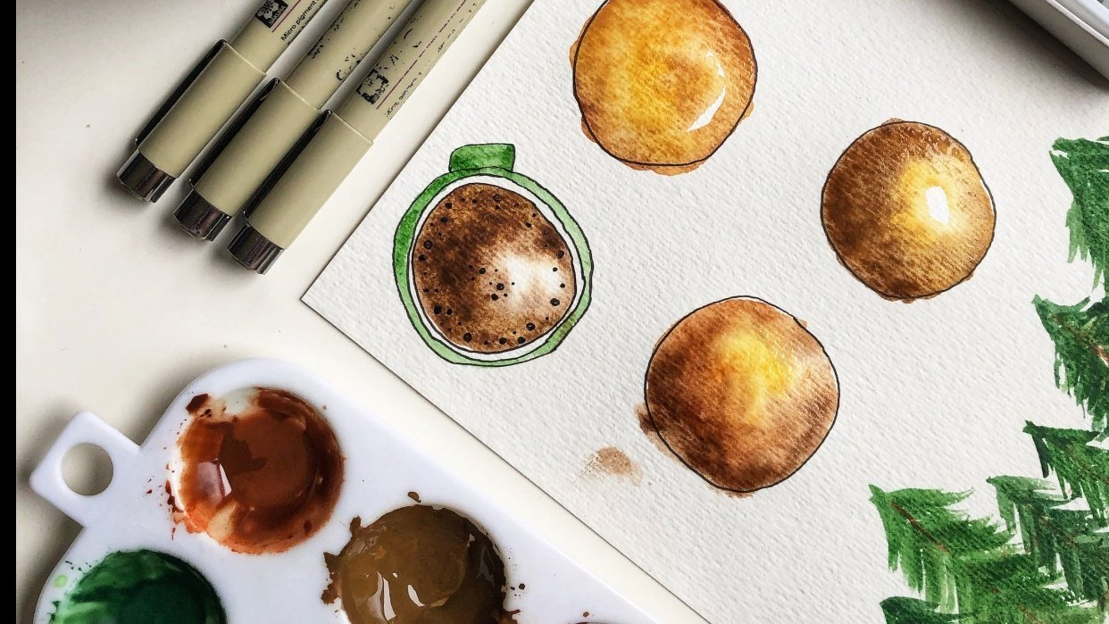 Coffee Break Watercolour - student project
