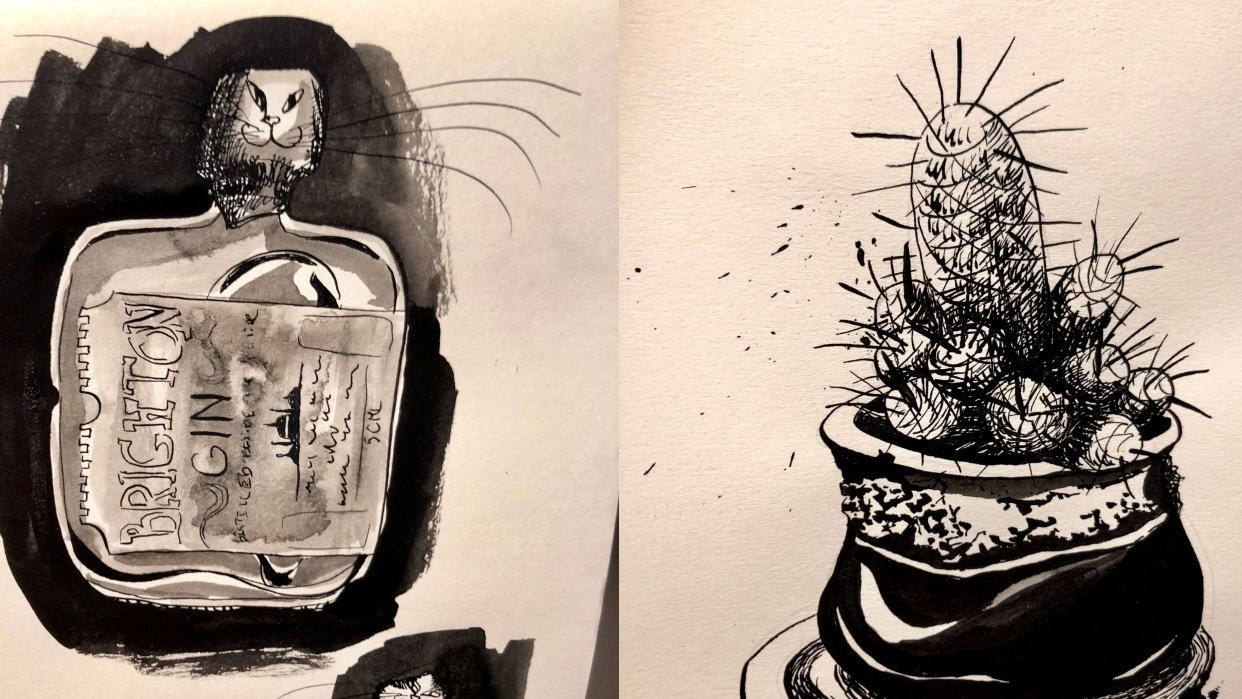 First experiments with ink :3 - student project