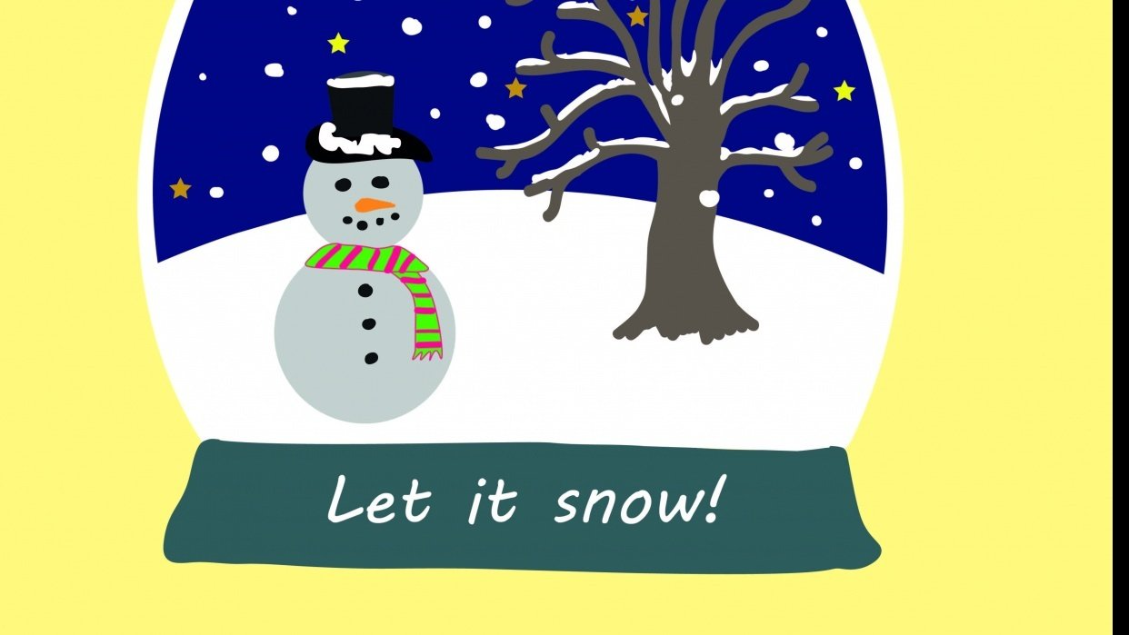 Christmas Snow Globe - student project