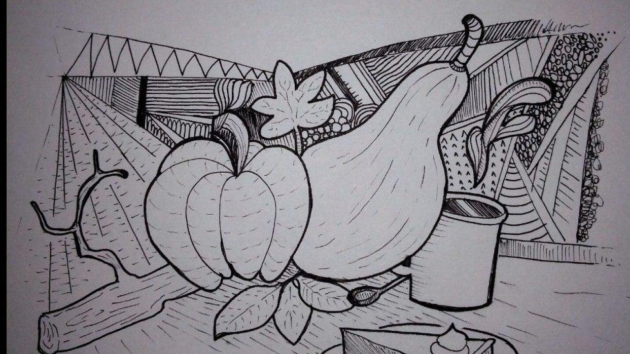Autumn doodle - student project