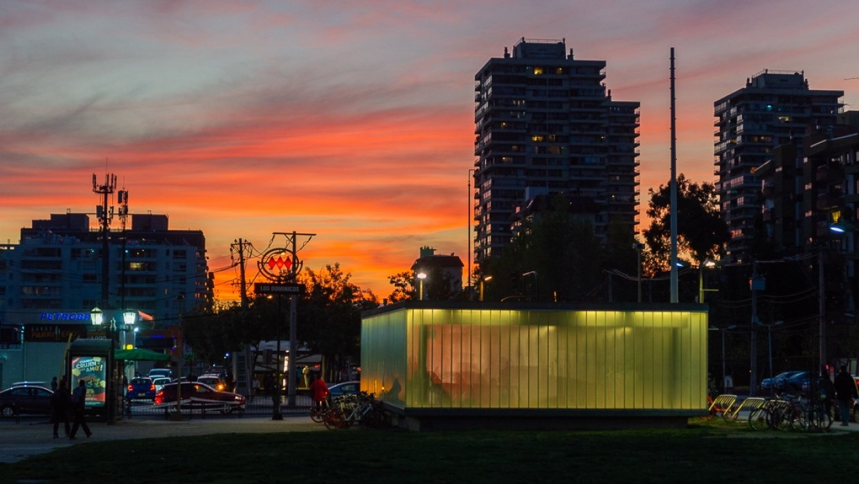 Sunset in Santiago - student project