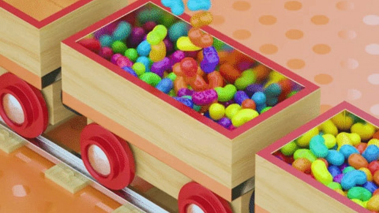 Jelly Bean Train - student project